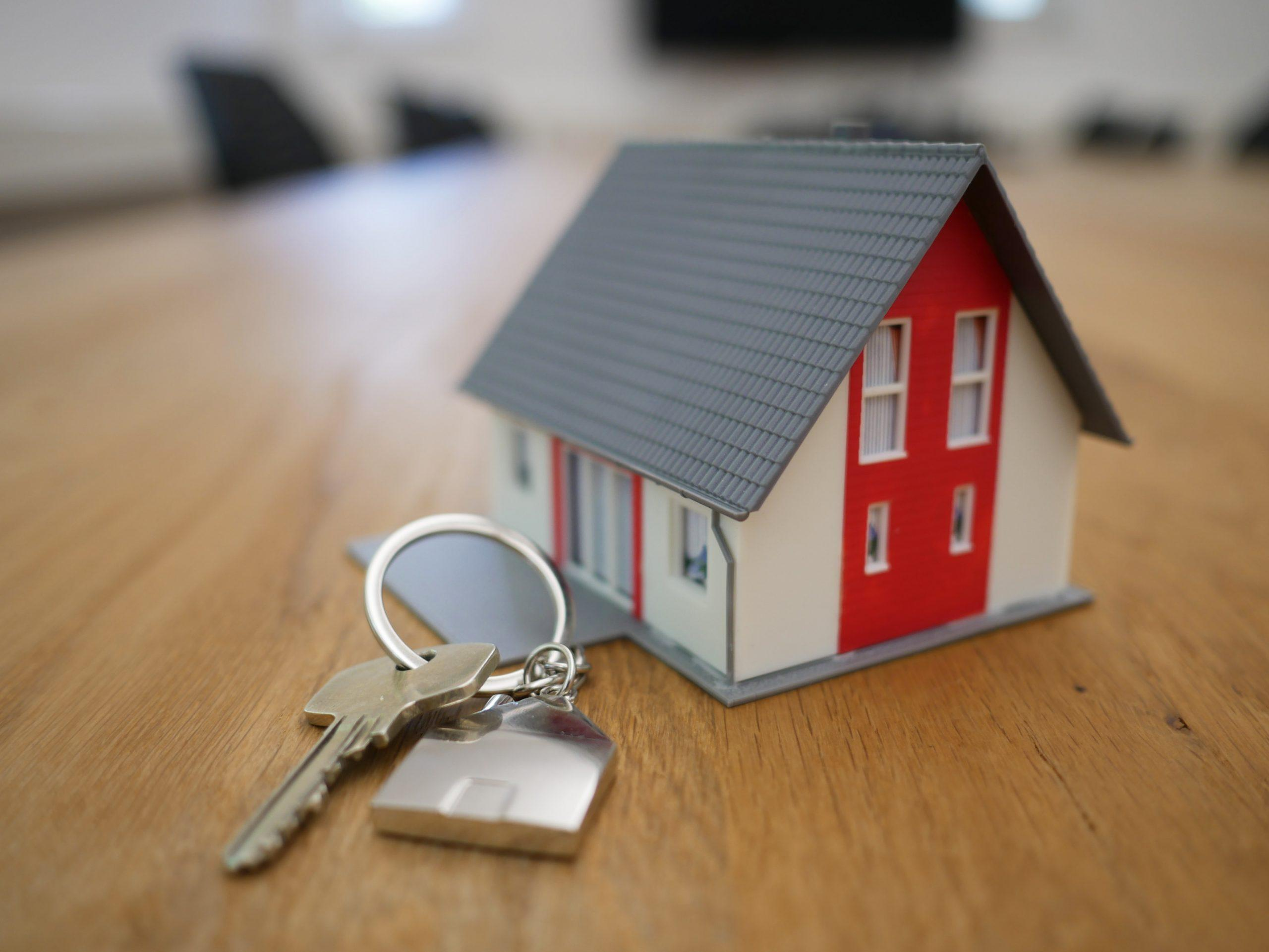 Key next to a toy model house
